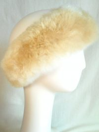 Bandeau de fourrure / Fur-trimmed headband