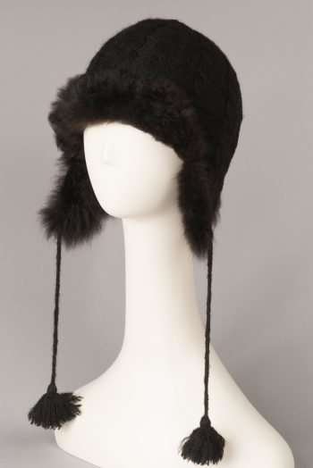 tuque tricot-fourrure / Fur-trimmed knitted hat