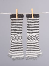 mitaines longues sans doigt / long fingerless mittens