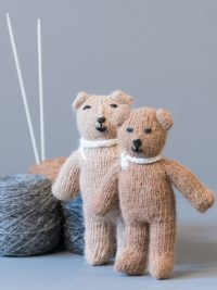 oursons tricotés / knitted teddy bear