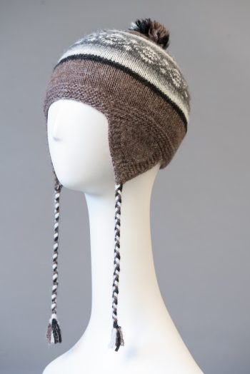 tuque andine double à motifs / double Andean hat with pattern