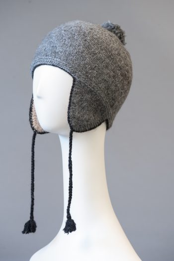 tuque andine double, unie / double Andean hat, solid