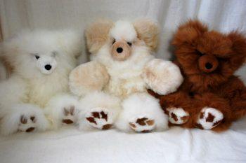 oursons en fourrure / fur-trimmed teddy bear
