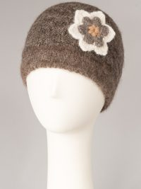 tuque simple à fleur / single thickness hat with flower