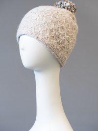 tuque double à pompon amovible / double hat with removable pompom
